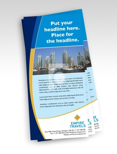 print ready template dl size travel agency flyer print ready