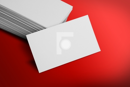 Blank business card mockup on red background business office blank business card mockup on red background reheart Gallery