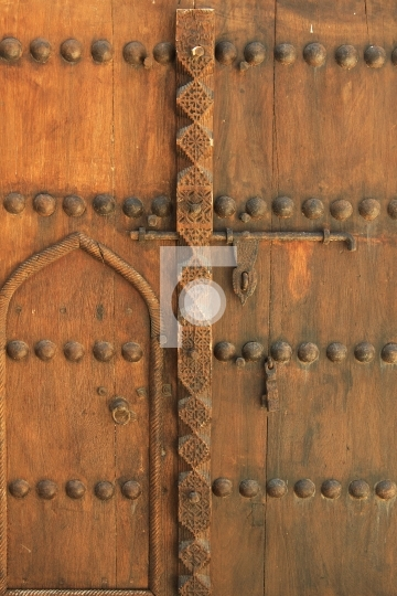 Antique door, dubai, united arab emirates