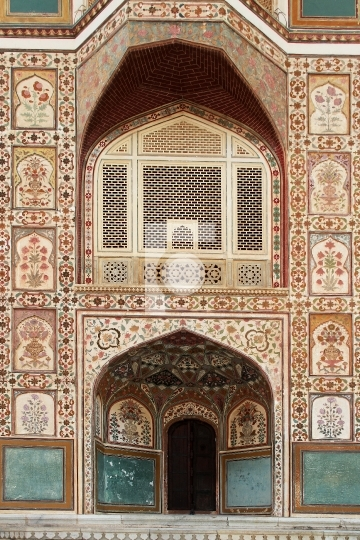 Beautiful Indian Art - Architecture in Jaipur, Rajasthan, India