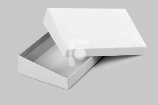 Blank Open White Card Board Box for Mockup