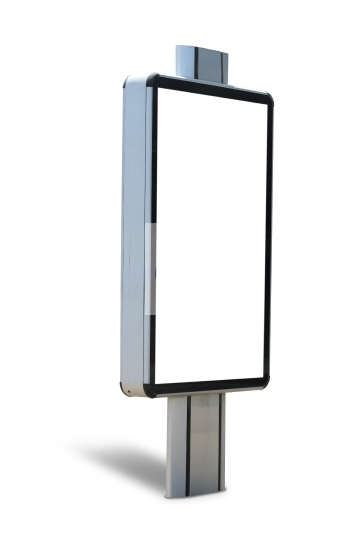 Blank outdoor advertising board