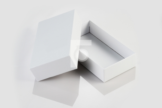 Blank White Card Board Box for Mockup