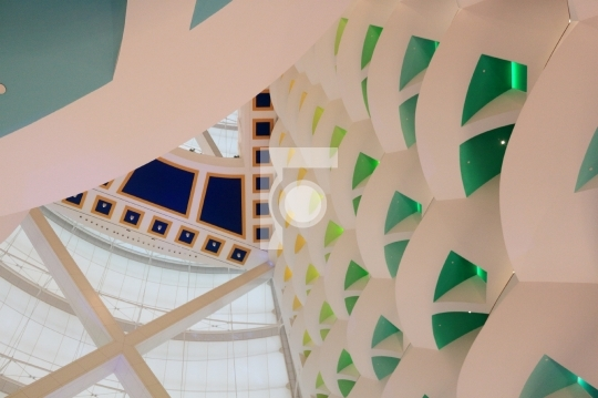 Burj Al Arab Hotel Interior Luxury Hotel Dubai Editorial Image