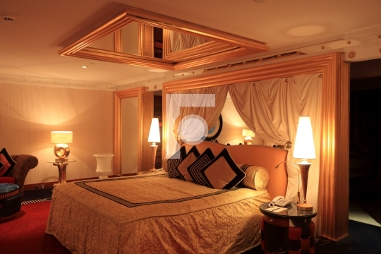 Burj Al Arab Room Interiors Bed Room - Editorial Usage Only