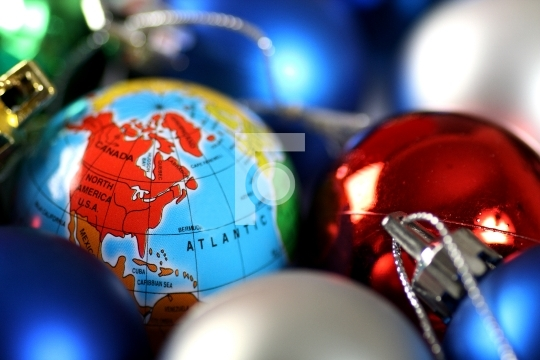 Christmas decorations and world