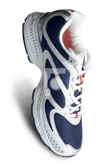classy sports shoe in white and blue