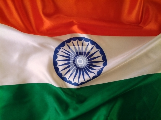 Closeup of National Indian Flag - Tricolor Free Stock Photo