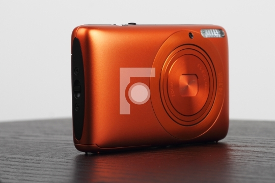 Compact Digital Camera with Built-in Flash