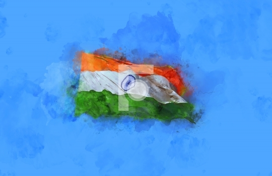 Creative Watercolor Indian Flag Background For Indian: Fotonium