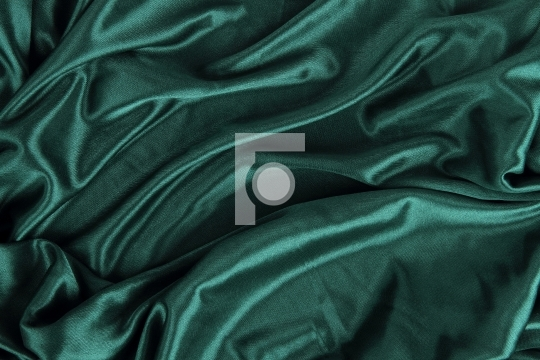 Dark Green Satin Silk Velvet Cloth Fabric Background