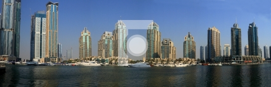 Dubai Marina Panoramic View, United Arab Emirates