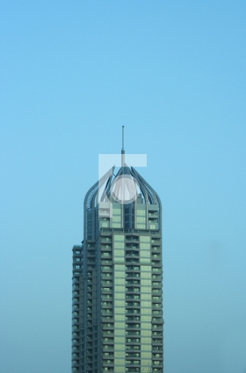 Dubai Marina Skyscraper UAE Stock Photo