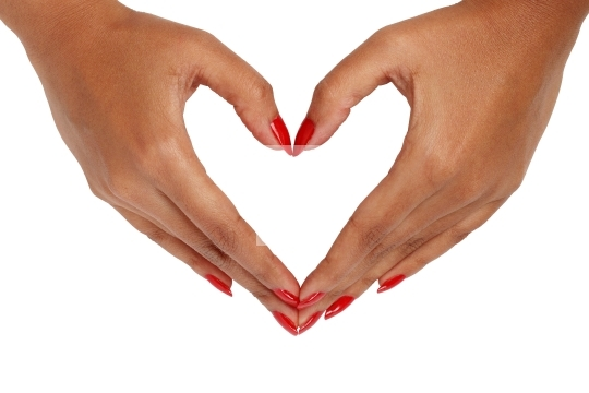 Female hand with love gesture