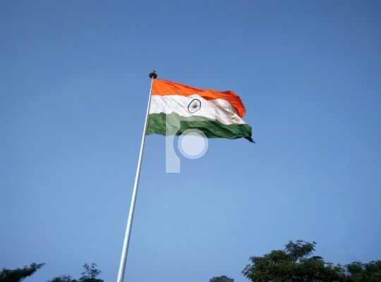 Free Photo India Flag in Connaught Place, New Delhi