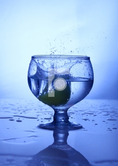 Free Photo Wine Glass Splash Blue Shot