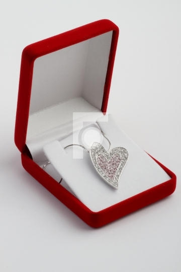 Heart Shaped Jewelry Pendant in a Gift Box
