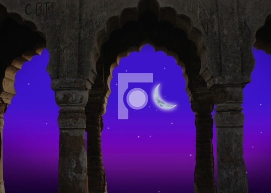 Indian architecture at night