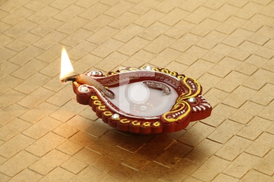 Indian Festival Diwali - Handmade Diya Clay Lamp