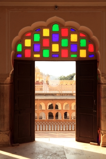 Interior of Hawa Mahal (Wind Palace) in Jaipur, Rajasthan, India