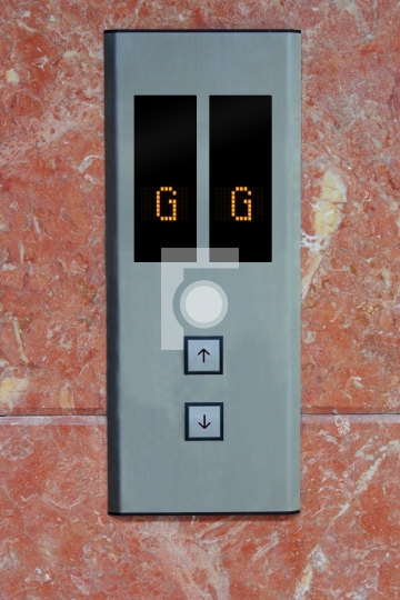 Lift panel with up and down arrows and led lights