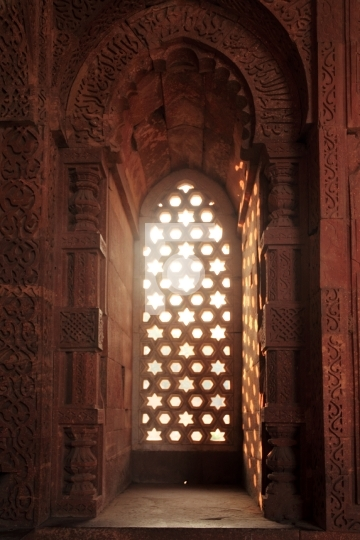 Light through ancient window, Qutub Minar, New Delhi