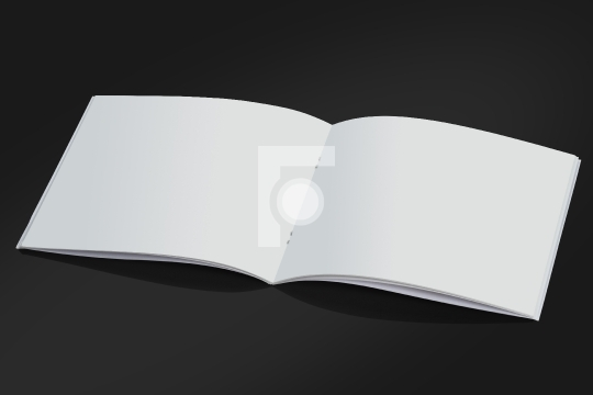 Open White Blank Brochure Magazine Cover for Mock up