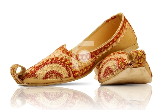 Pair of Indian traditional shoes