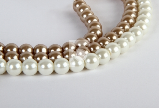 Pearl Jewelery in white background
