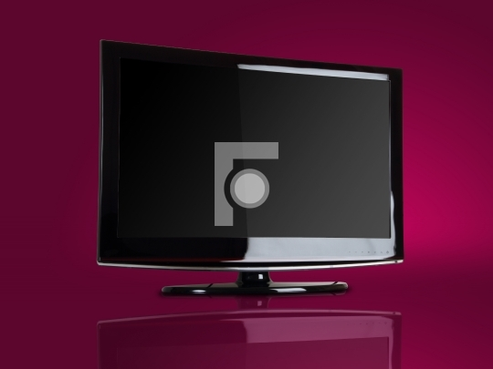 Plasma / LCD TV Front Shot in colorful background