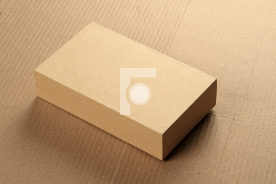 Recycle Card Board Box for Mockup