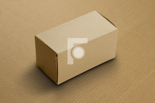 Recycled Card Board Box for Mockup on Corrugated Sheet