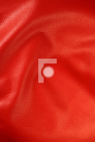 Red Colored Leather Texture Background