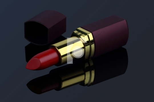 Red Colored Lipstick Closeup