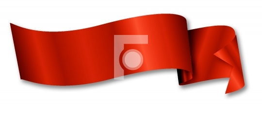 red ribbon / banner