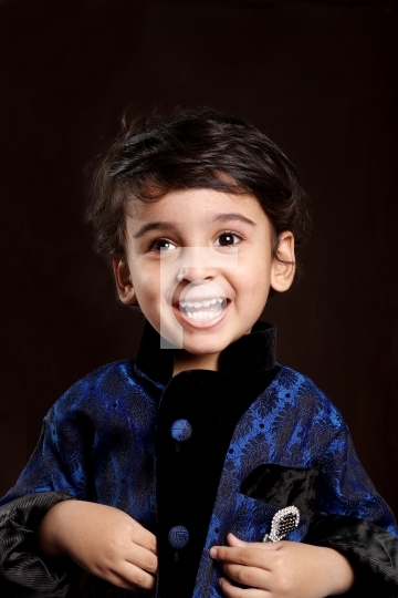 Smiling Happy Indian Child Boy Kid Toddler Stock Photo