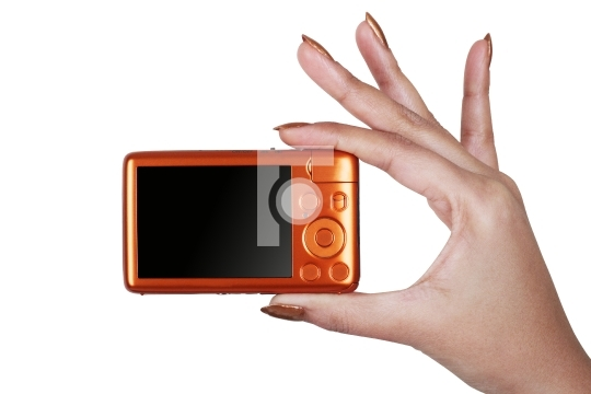 Taking photo with a digital compact camera