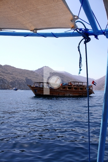 Traditional Dhow Cruise Oman Muscat Stock Photo Middle East