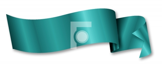 turquoise ribbon / banner