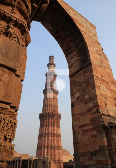 UNESCO Heritage Site - Qutub Minar, New Delhi, India