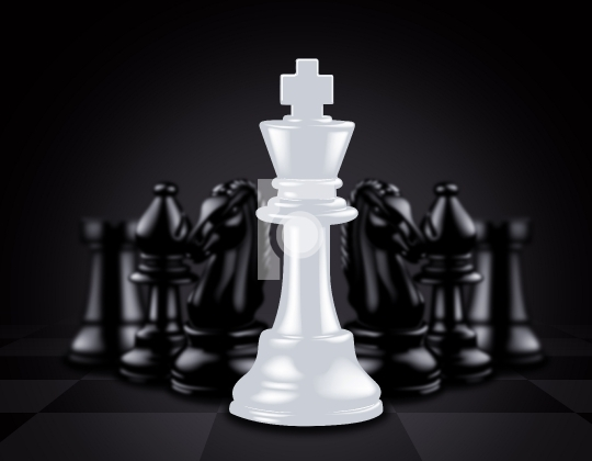White King stand out against black chess pieces
