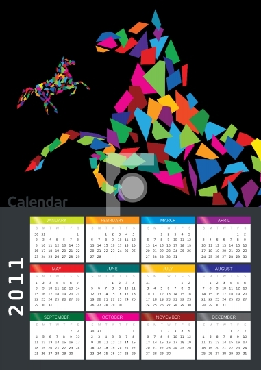 2011 Middle East Calender - Printable EPS format