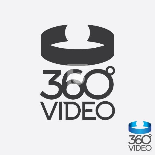 360 Degree Video Virtual Reality Vector Logo