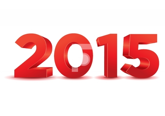 3D Happy New Year 2015 Vector Free Image / Photo