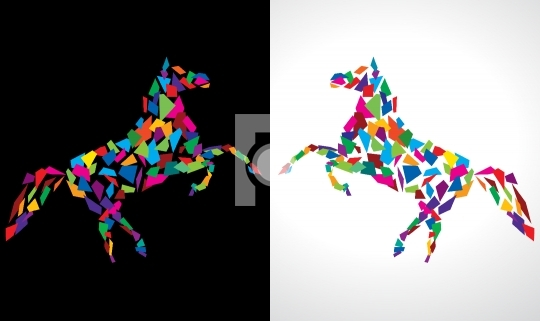 Abstract Horse Vector Drawing