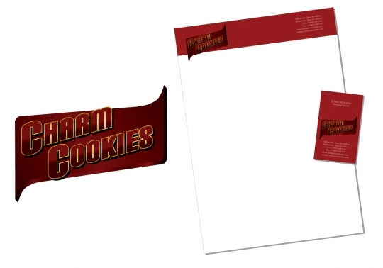 Charm Cookies Logo and Corporate Identity