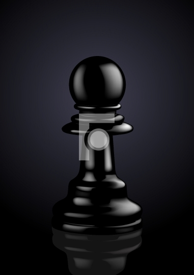 Chess Black Pawn - Vector Illustration
