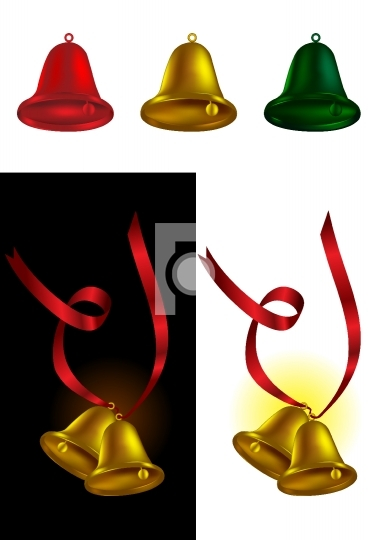 Christmas decoration bell - vector illustration