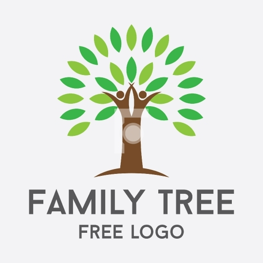 Couple Family Tree Readymade Free Logo Stock Vector