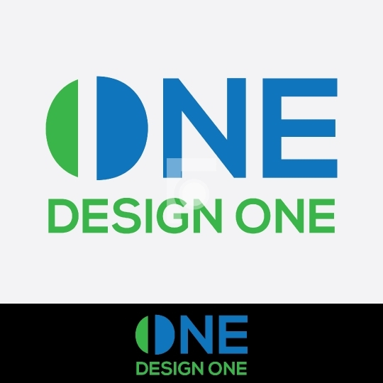 Design One - Design Studio Logo Free Vector Image